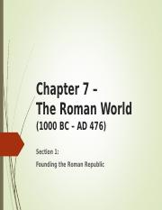 Chapter 7 The Roman World.ppt