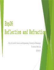 Exp26 Reflection and Refraction(1).pptx