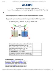 Designing a galvanic cell from a single-displacement redox reaction