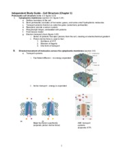 Study Guide 2 - Cell Structure Chpt. 3