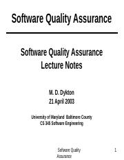 SoftwareQualityAsurance