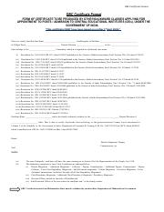 OBC certificate - CIDR Id HA1700087357 eDisHa
