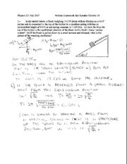 Written Homework 10 Solutions
