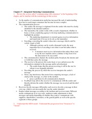 Marketing chapter 17 final notes