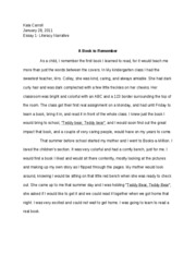Personal Narrative Essay Help