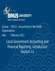 F01120000220104011F0112 P11 Local Government Accounting and Financial Reporting Introduction
