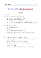Extra problems torque _crossproduct_Answers(1)