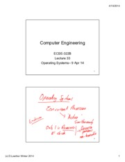 Lecture 33 Operating Systems 9 Apr14. annotated