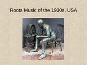 Roots Music of the 1930s, USA-1