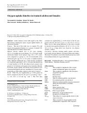 Oxygen uptake kinetics in trained adolescent females.pdf
