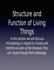 Structure and function of living things notes.ppt