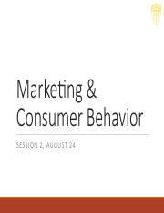 consumer behavior session 2 News about consumer behavior commentary and archival information about consumer behavior from the new york times.