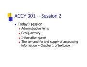 Class 2 slides- Accounting Objectives