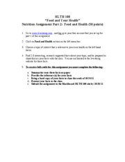 Nutrition_ assign_part 2_Food_and_Health
