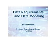 Systems Analysis and Design lecture 14 data