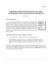 TN9_The_Body_Shop_International_PLC_2001_An_Introduction_to_Financial_Modeling.docx