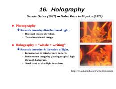 16-Holography