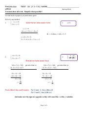 Precalculus Test 10 Solutions (Chapter 7.1-7.5)