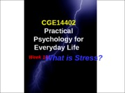 L10_What is Stress(Student)