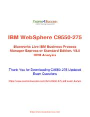IBM C9550-275 Exam Questions - 100% success Guaranteed.pdf