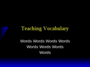 01 Teaching Vocabulary Lecture