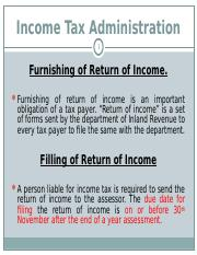 done INCOME_TAX_ADMINISTRATION.ppt