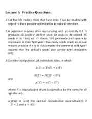 Lecture 6 Questions