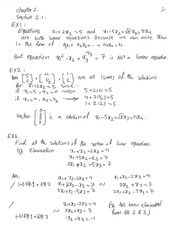 Systems of Linear Equations Practise Notes