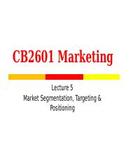 Lecture 5 (1617bSTP)