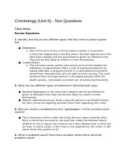 CriminologyUnit6-TextQuestions