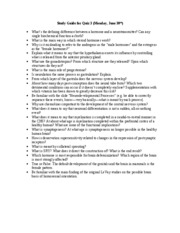 Study Guide for Quiz 3