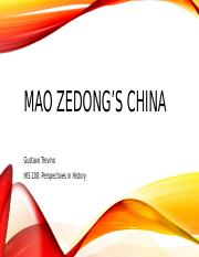 HIS 100 - Project 3 Multimedia Presentation - Mao Zedong's China (with References).pptx