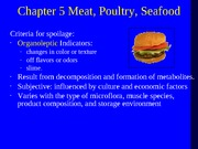 Lecture - Meat, Seafood, and Poultry