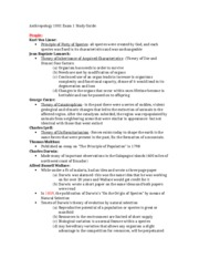 Anthropology 1001 Exam 1 Study Guide