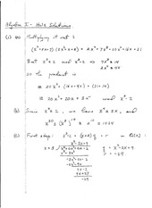 Algebra 1 Homework 11 Solutions