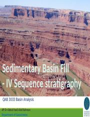 4 Basin fill - 3 Sequence stratigraphy_2016