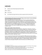 briefing memo sample