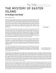An Ecology Case Study The Mystery of Easter Island fin.docx