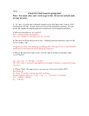 final exam b 112 s05 KEY just chapt 17 questions