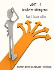 MGMT1110+Topic+4+decision+making.pdf