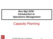 3230Class-05-CH06-Capacity Planning