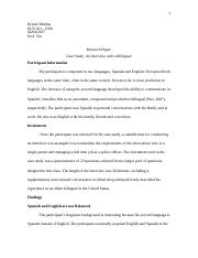 research paper bilingualism as an asset or liability running  9 pages joey interview research