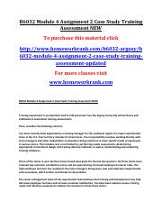 B6032 Module 4 Assignment 2 Case Study Training Assessment NEW.pdf