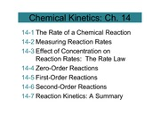 3.1Chapter 14 Chemical Kinetics (1 per page)