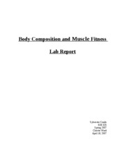 Body Composition and Muscle Fitness Lab Report