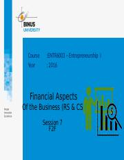 Z10560010120164027Session 8 Financial Aspects of the Business (RS & CS).pptx