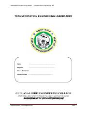 transportation engineering laboratory