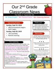 Parent newsletter 1-1