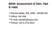 SKin, Hair and Nails Lecture Slides