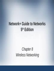 Network+ Guide to Networks 5th Edition ch08